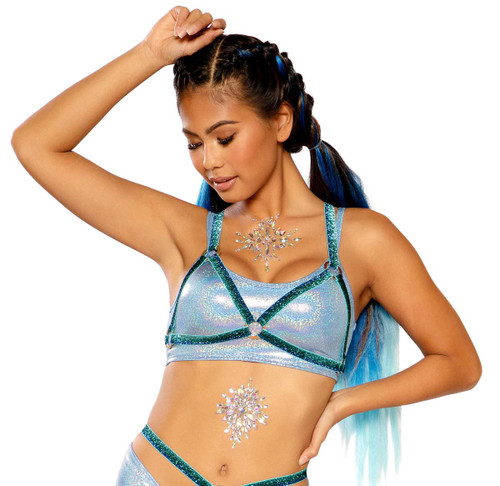 Harness Top by J Valentine JV-FF276 color blue fade