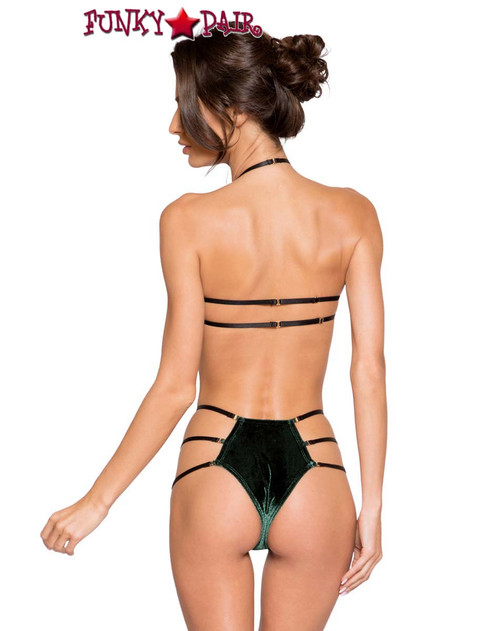 Bra Top with High Waist Bottom by Roma Costume R-LI266 back view