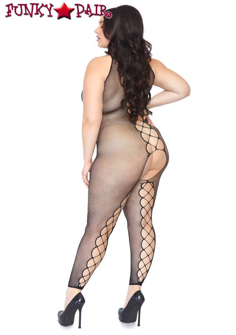 Leg Avenue | LA89084X, Fishnet Footless Bodystocking back view