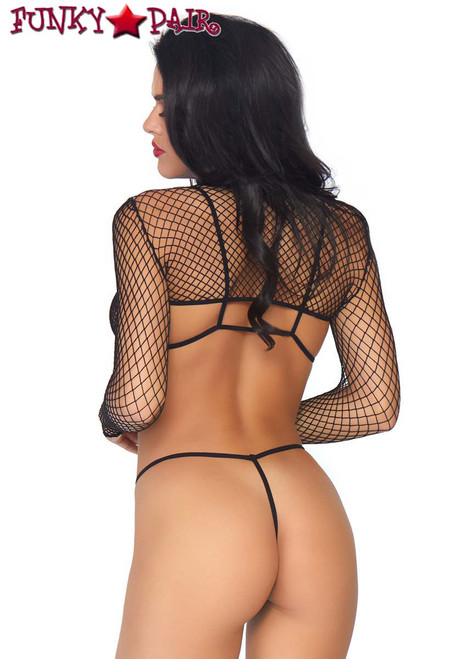 Leg Avenue | LA81583, 3pc Net Bikini Set back view