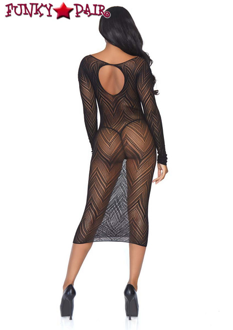 Leg Avenue | LA86800, Chevron Net Body Con Dress back view