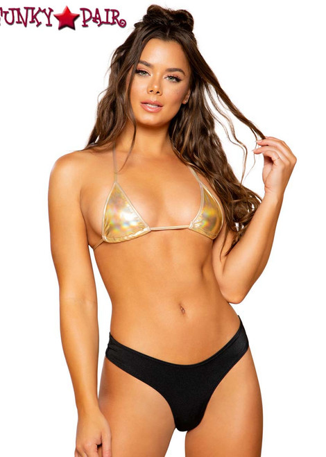 METALLIC FOIL BIKINI TOP | Roma R-3763 with B3238 Bottom