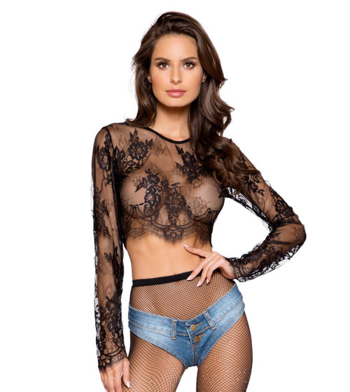 Roma | R-LI299, LACE CROP TOP