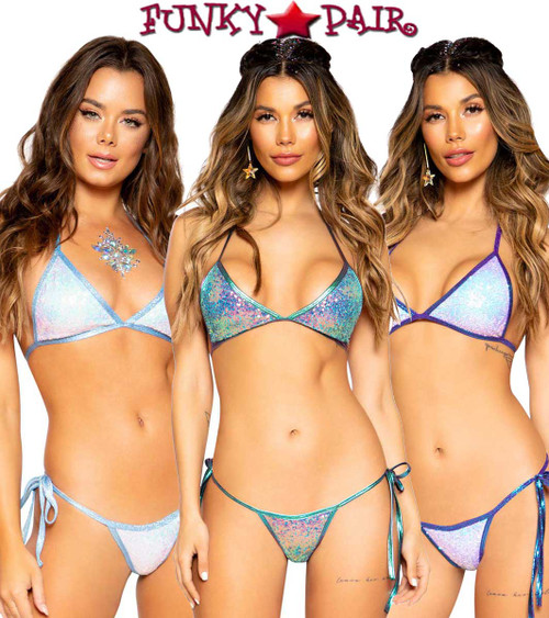 Roma | R-3715, DANCER SEQUIN BIKINI TIE SET