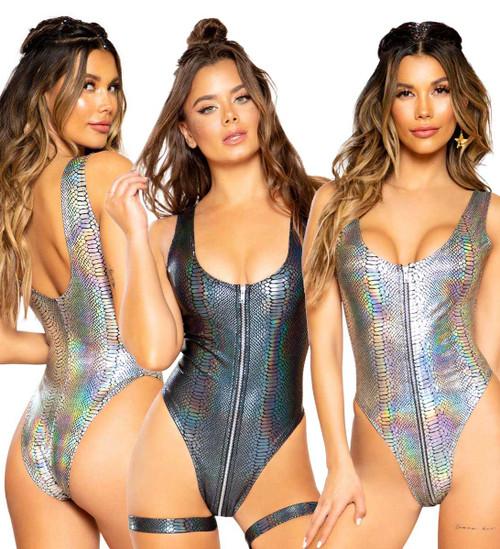 RAVER SNAKE SKIN ROMPER | Roma Costume R-3685