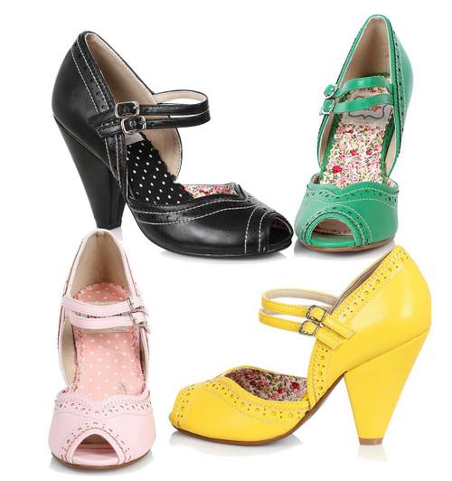 f328504bdd Bettie Page | BP403-Nellie, Chunky Heel Maryjane Platform Sandal ...