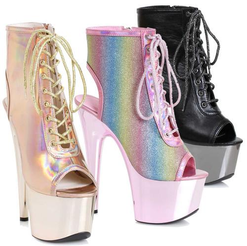 Lace-up Ankle Boots   Ellie Shoes 709-Clara