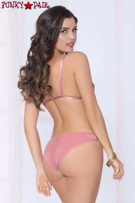 STM-10970, Two-Tone Sequin Bra Set  back view