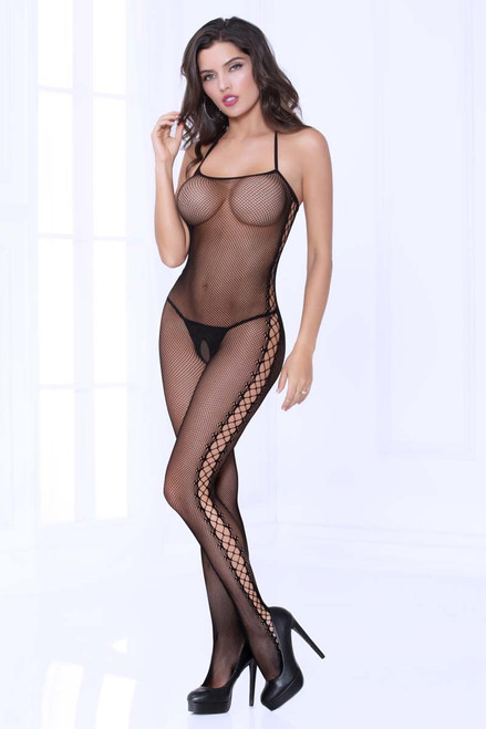 Cami Fishnet Bodystocking STM-20468, Seven Till Midnight
