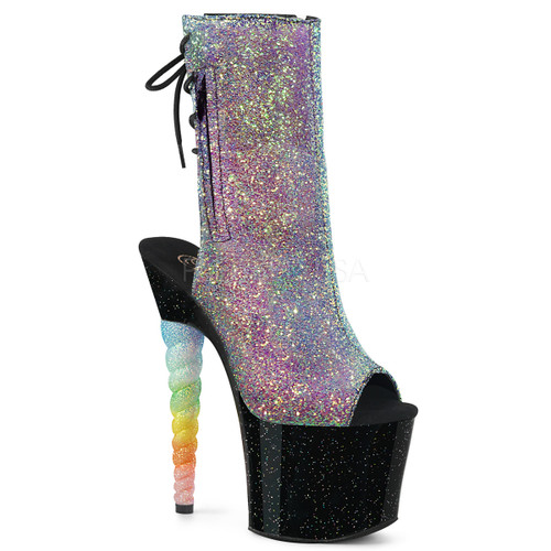 47c22dc714bc Exotic Dancer Shoes | Unicorn-1018G, Unicorn Heel Open Front Ankle Boots ...