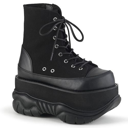 Demonia Men's | Neptune-115, Platform Lace-up Ankle Boots