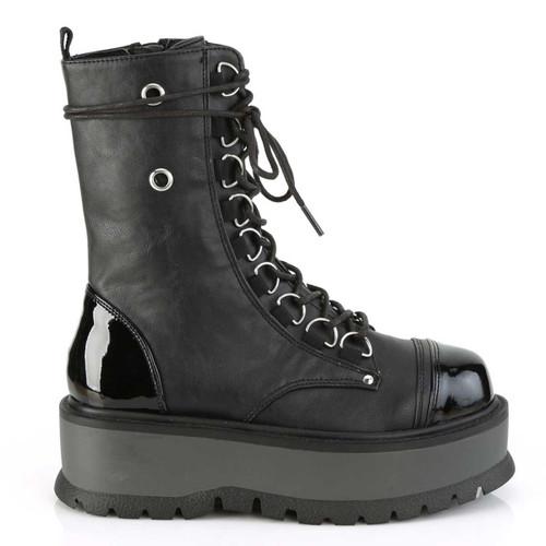 Demonia Slacker-150,  Women Lace-up Platform Ankle Boots