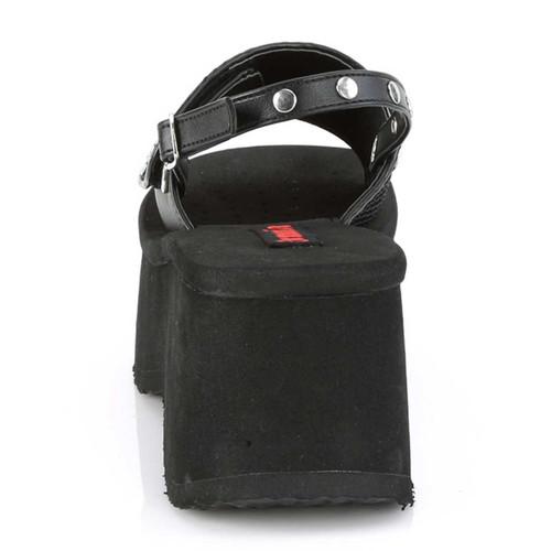 Funn-32, Back View Platform Sandal with Slingback | Demonia Women Shoes
