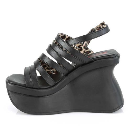 Demonia | Pace-33,Women's Wedge Strappy Platform Sandal Inner Side View