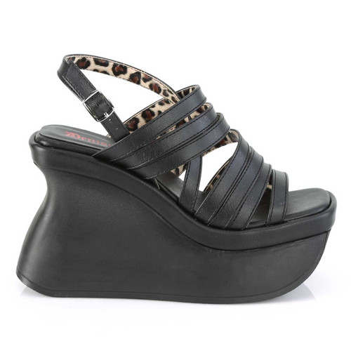 Demonia | Pace-33, Women's Wedge Strappy Platform Sandal Side View