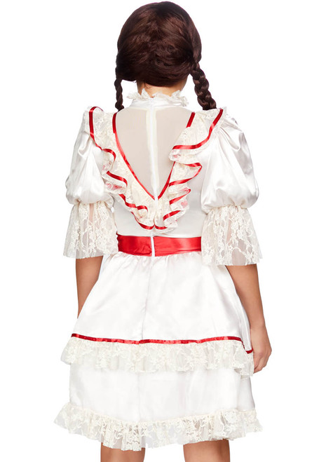 Leg Avenue LA-86867, Women Haunted Doll Costume Back View