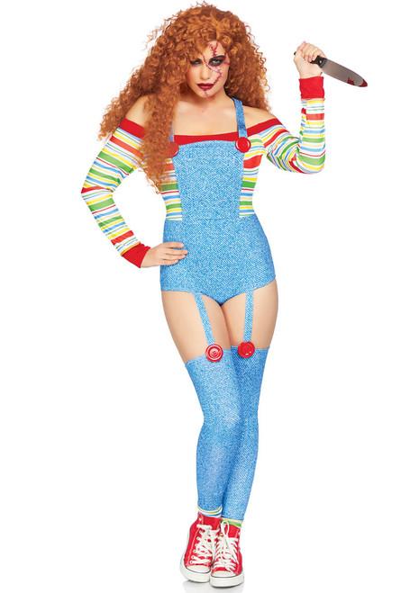 LA-86851, Killer Doll Costume by Leg Avenue full view