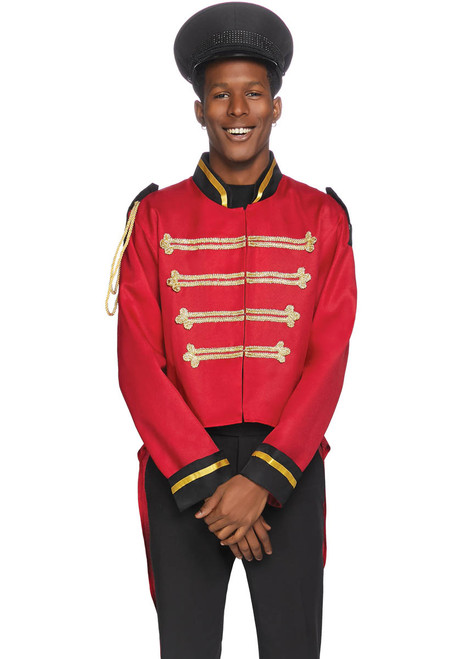 LA-86847, Men's Red Military jacket with Tail by Leg Avenue