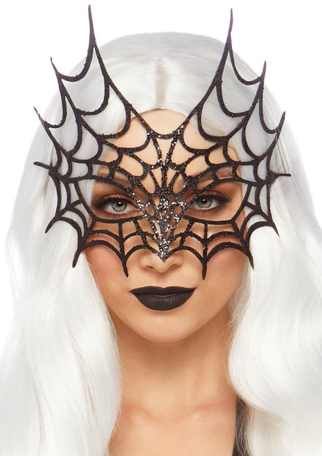 A2869, Glitter Cut Web Mask by Leg Avenue