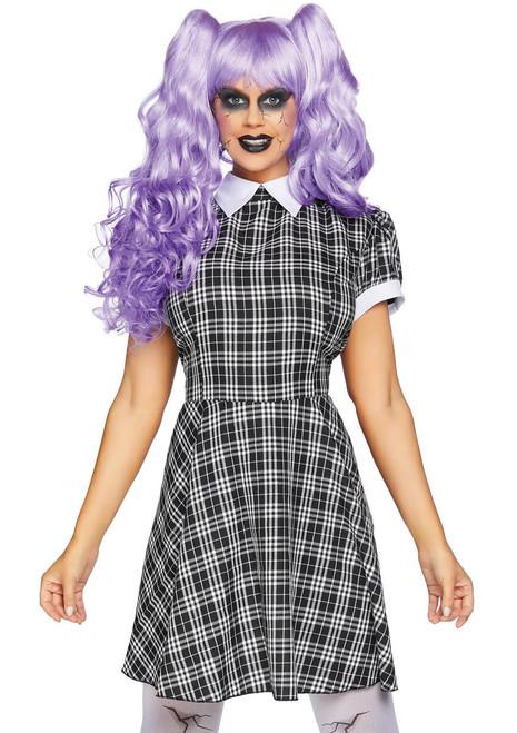 Women's Plaid Babydoll Dress Costume by Leg Avenue | LA-86828
