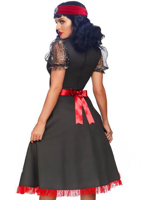 Spooky Board Beauty Costume by Leg Avenue LA-86812 back view