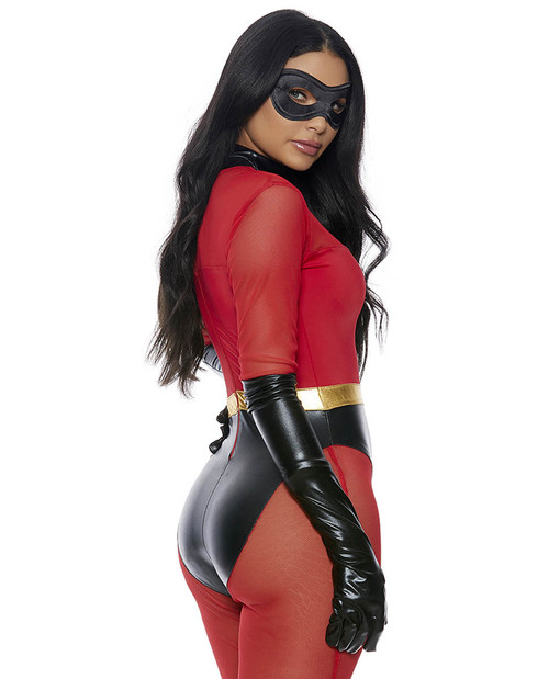 Forplay  Costume | FP-559611, Super Suit Superhero Costume Back View