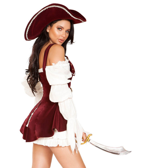 Women's Armed Pirate Costume Roma | R-4919, Back View