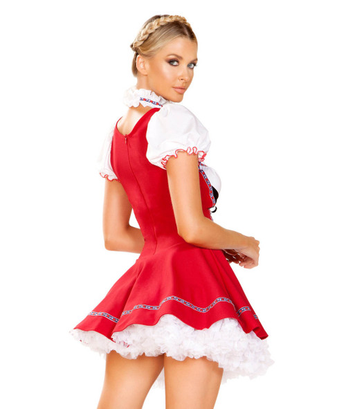 October Fest Beer Wench Costume by Roma R-4947, Back View