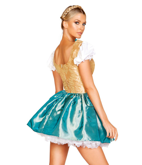 Fancy Beer Girl Costume by Roma R-4948,  Back View