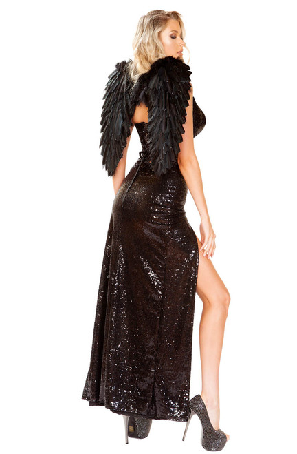 Wicked Dark Angel Costume Roma | R-4912, Back View