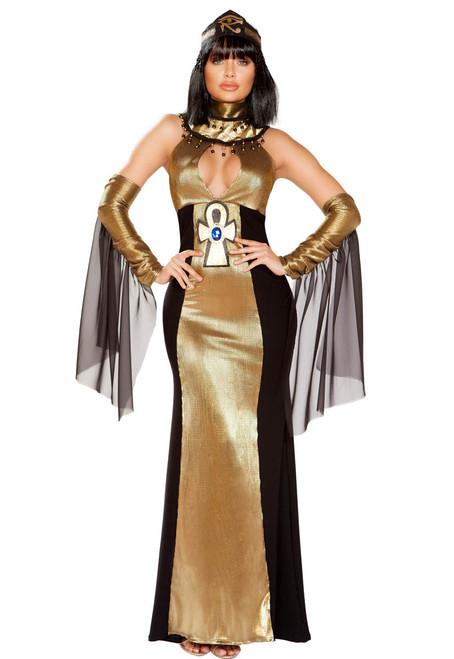 Women's Ruler of Egypt Costume Roma | R-4930, Full Front View