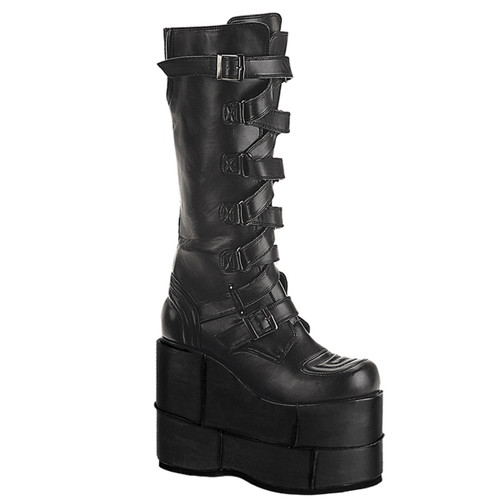 STACK-308, Goth Cyber Punk Knee Boots Demonia | Men