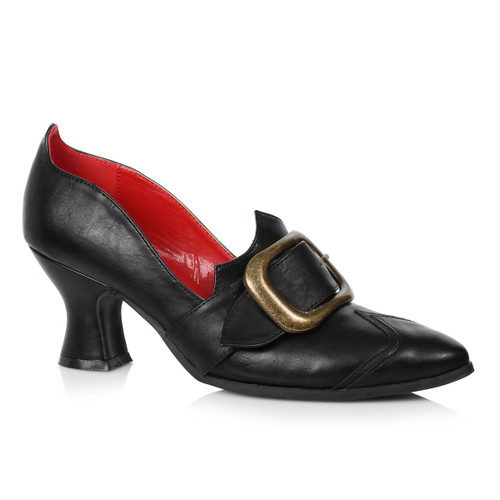 Black Faux Leather Witch Shoes with Buckle by Ellie Shoes 1031,  253-Solstice