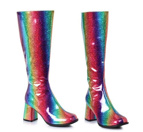 "300-Summer, 3"" Rainbow Gogo Boots by Ellie Shoes"