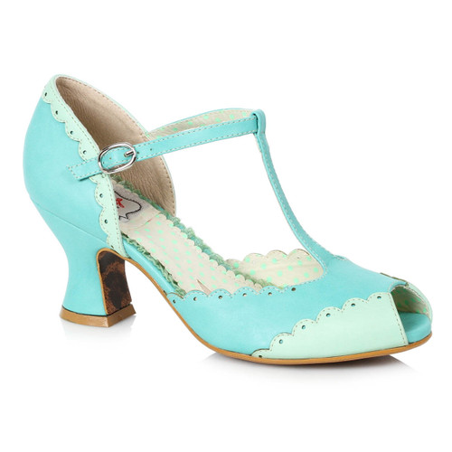 BP254-Carlie, Peep Toe T-strap Sandal by Bettie Page Shoes