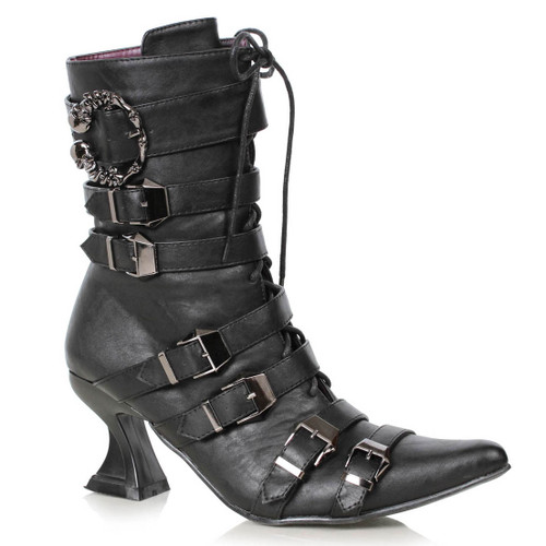 """301-Rosita, 3"""" Witch Pointy Toe Boots by Ellie Shoes 1031"""