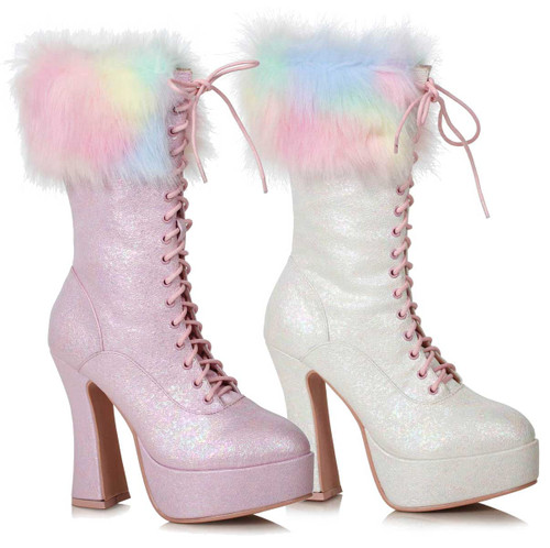 Ellie Shoes   557-Nora, Ankle Boots with Faux Fur