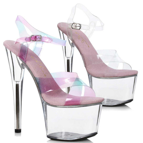 "Ellie Shoes | 709-YUKI, 7"" Criss Cross Strap Platfrorm Sandal"