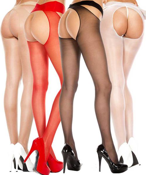 Music Legs | ML-334, Crotchless Sheer Pantyhose