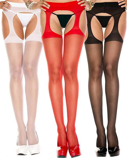 Music Legs | ML-338, Sheer Suspender Pantyhose