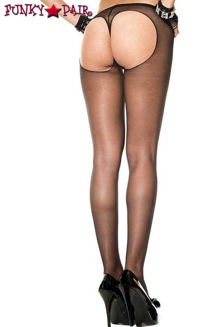 Music Legs ML-802, String Back Sheer Pantyhose
