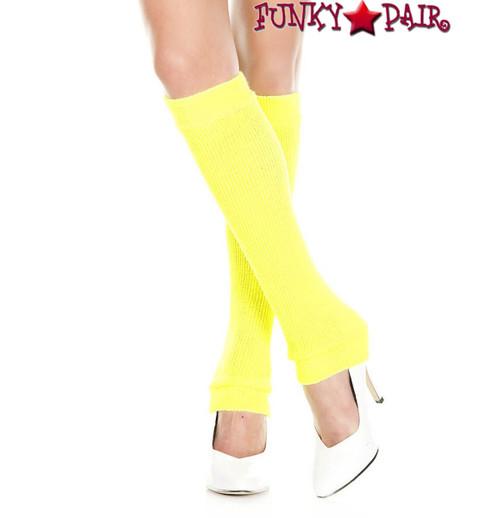 Neon Yellow Acrylic Knee High Warmer by Music Legs ML-5724