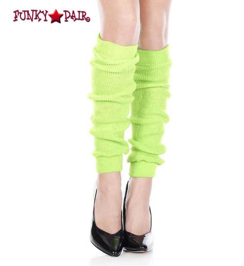 Neon Green Acrylic Knee High Leg Warmer by Music Legs   ML-5724