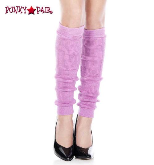 Lavender Acrylic Knee High Leg Warmer by Music Legs   ML-5724