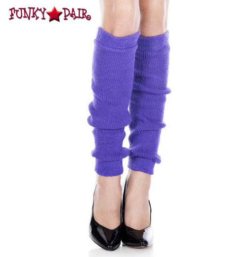 ML-5724, Purple Acrylic Knee High Leg Warmer by Music Legs