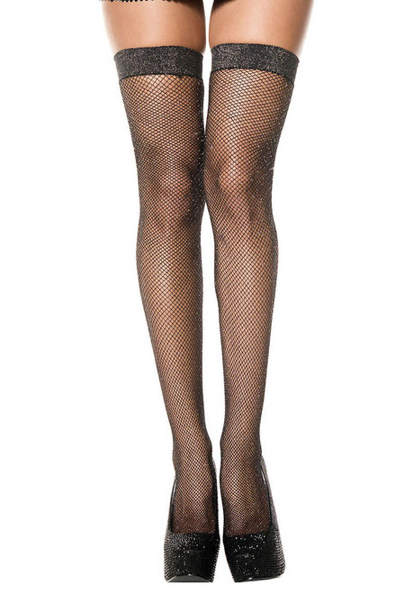 Shimmery Fishnet Stocking by Music Legs ML-4994
