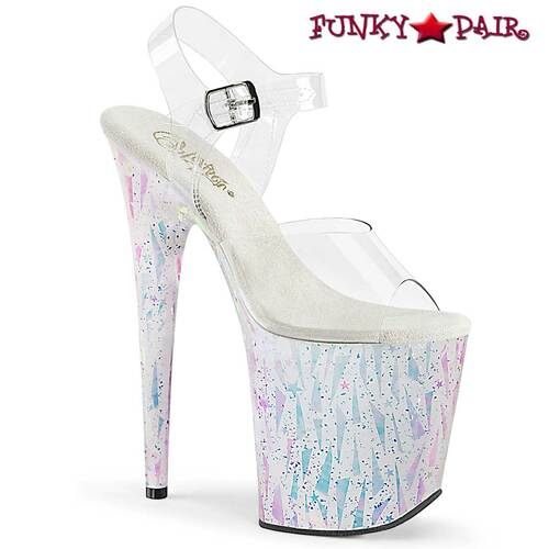 Pleaser | Flamingo-808SPLA-2, 8 Inch Sandal with Geometric Shape