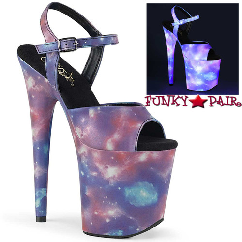 Flamingo-809REFL, 8 Inch Sandal with Galaxy Effect color multi color