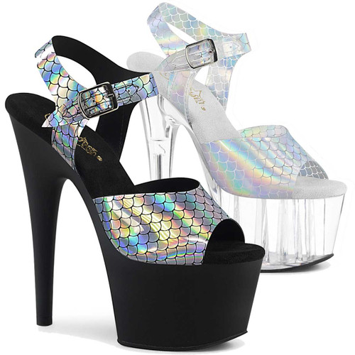 Adore-708N-MS, 7 Inch Mermaid Scales Sandal by Pleaser Shoes