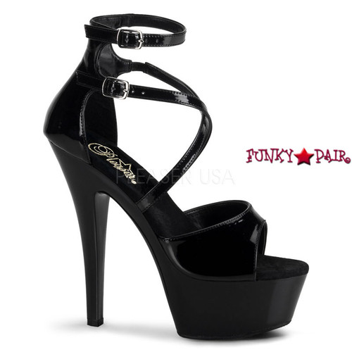 KISS-254, Platform Criss Cross Sandal with Ankle Wrap Sexy Shoes